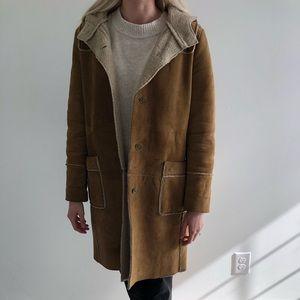 Gap long shearling coat
